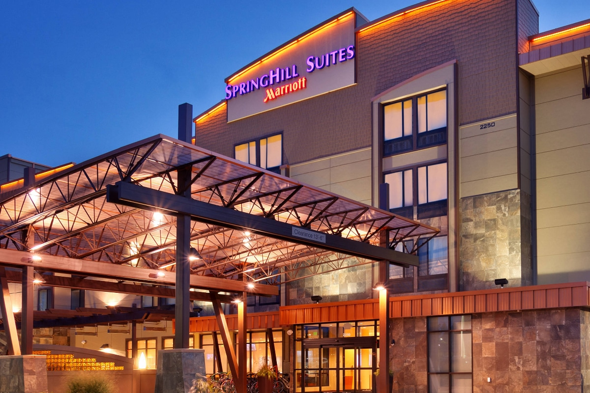 Springhill Suites in CDA Idaho sunset